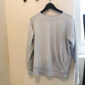 Z by Zella pullover crew sweatshirt in light blue